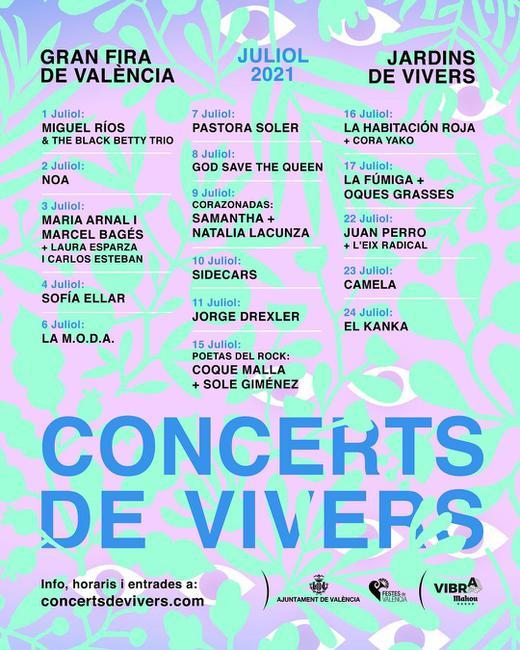 Concerts de Vivers 2021